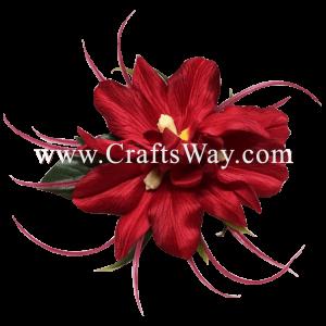 XMS-017 Custom Made Flower Hairpiece, Silk Orchid (E) Hair Clip