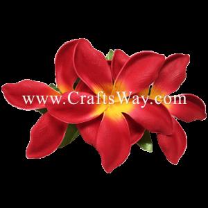 XMS-018 Custom Made Flower Hairpiece, Plumeria (CO) Hair Clip