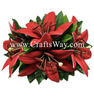 XMS-019 Custom Made Flower Hairpiece, Lily (C) Hair Clip