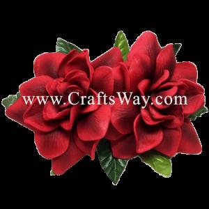 XMS-021 Custom Made Flower Hairpiece, Gardenia (D) Hair Clip