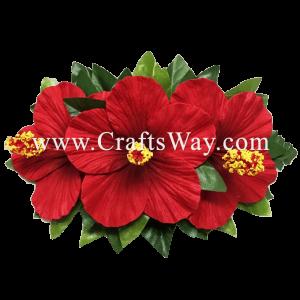 XMS-022 Custom Made Flower Hairpiece, Hibiscus Hair Clip