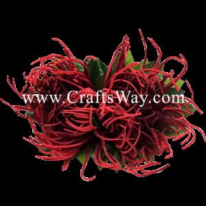 XMS-024 Custom Made Flower Hairpiece, Spider Mum Hair Clip
