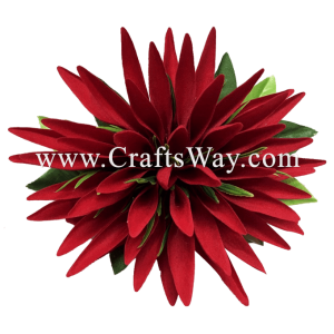 XMS-025 Custom Made Flower Hairpiece, Heliconia Hair Clip