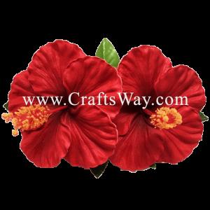 XMS-027 Custom Made Flower Hairpiece, Hibiscus (G) Hair Clip