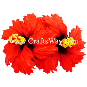 XMS-031 Custom Made Flower Hairpiece, Hibiscus (E) Hair Clip