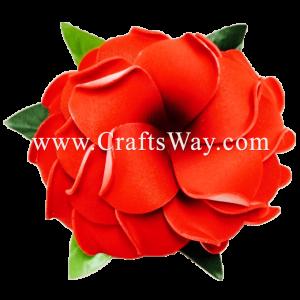 XMS-032 Custom Made Flower Hairpiece, Plumeria (A) Hair Clip