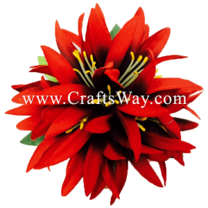 XMS-033 Custom Made Flower Hairpiece, Spider Lily (S) Hair Clip