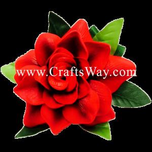 XMS-034 Custom Made Flower Hairpiece, Gardenia (H) Hair Clip