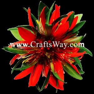 XMS-035 Custom Made Flower Hairpiece, Lehua & Spider Lily Hair Clip
