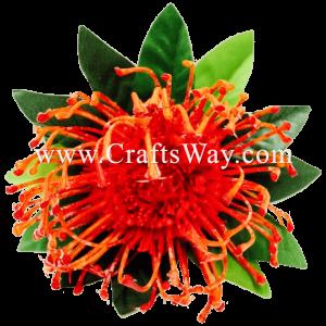 XMS-036 Custom Made Flower Hairpiece, Protea Hair Clip