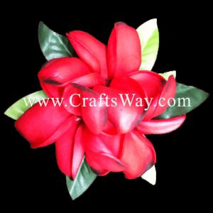 XMS-038 Custom Made Flower Hairpiece, Plumeria (Z) Hair Clip