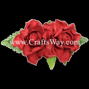 XMS-039 Custom Made Flower Hairpiece, Gardenia (E) Hair Clip