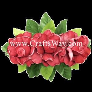 XMS-041 Custom Made Flower Hairpiece, Gardenia (G) Hair Clip