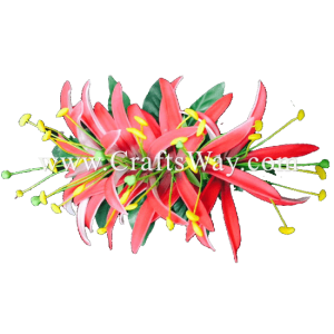 XMS-042 Custom Made Flower Hairpiece, Spider Lily (A) Hair Clip