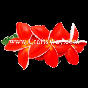 XMS-043 Custom Made Flower Hairpiece, Plumeria (BU) Hair Clip
