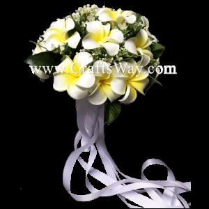 WD-001 Wedding & Special Event, Plumeria Flower Bouquet