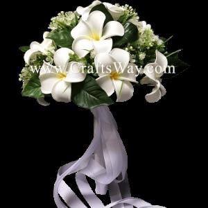 WD-002 Wedding & Special Event, Plumeria Flower Bouquet