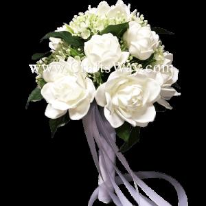 WD-003 Wedding & Special Event, White Gardenia Bouquet