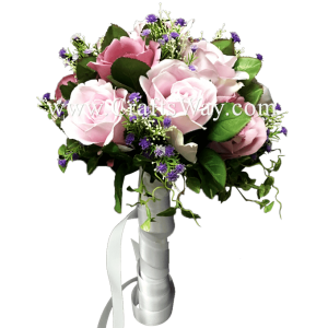 WD-006 Wedding & Special Event, Light Purple Rose Bouquet
