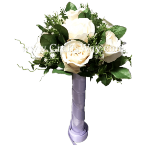 WD-007 Wedding & Special Event, White Rose Bouquet