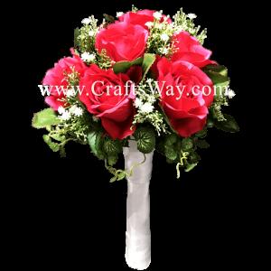 WD-008 Wedding & Special Event, Dark Pink Rose Bouquet