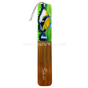 BK-W102 Hawaiian State Fish (Large) Hawaiian Hand painted Wooden Bookmarks