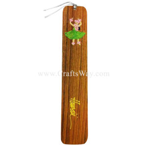 BK-W104 Hula Girl Hawaiian Hand painted Wooden Bookmarks