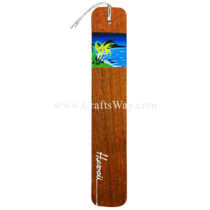 BK-W106 Diamond Head Hawaiian Hand painted Wooden Bookmarks