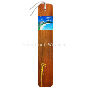 BK-W107 Waikiki Hawaiian Hand painted Wooden Bookmarks