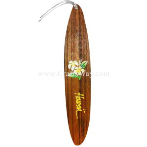 BK-W203 Plumeria Hawaiian Hand painted Wooden Bookmarks