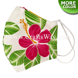 FFM-003 Cotton Face Mask, Hawaiian Prints Face Masks, Washable and reusable cotton face mask. Perfect for daily wear to protect you from dust and pollution, Available in standard adult size