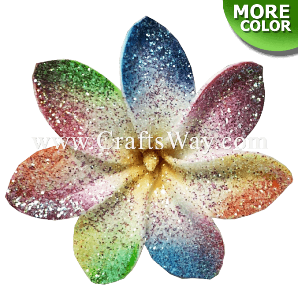 FSH459 Artificial Foam Flowers, Tiare Type CO with Glitter, 3¼ inches
