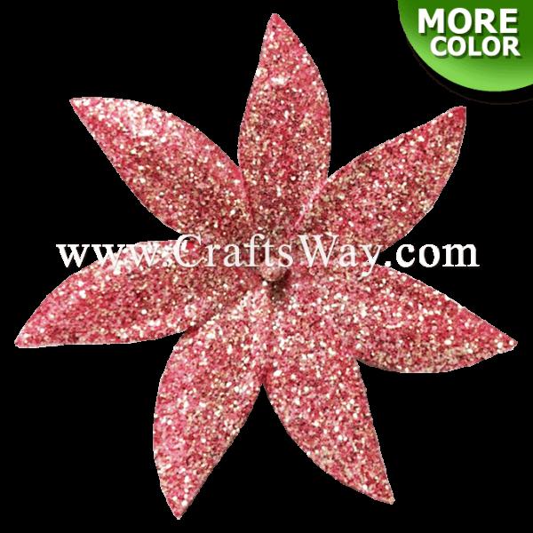 FSH460 Artificial Foam Flowers, Foam Tiare Type CU with Glitter, 3½ inches