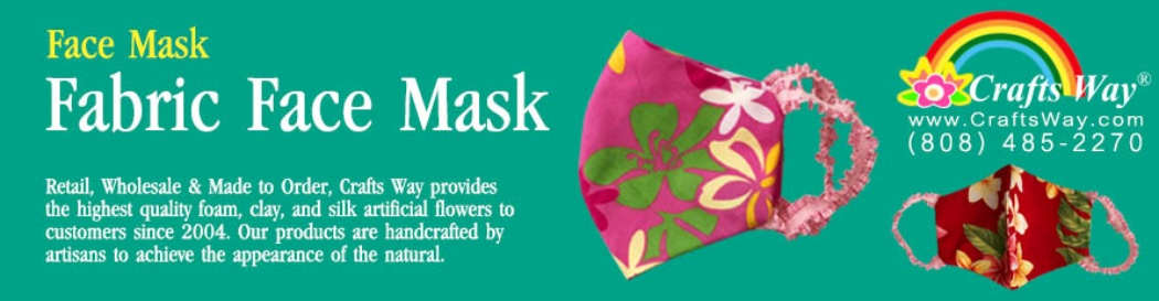 Fabric Face Mask and DIY Fabric Face Mask Material Set, Hawaiian Prints Face Masks provide by CraftsWay