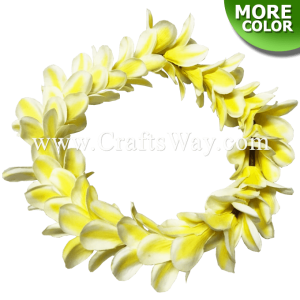 HK028 Elastic Plumeria Headband, Elastic Silk Plumeria Headband, Flower Headband, One size fits all, Materials: Silk Plumeria, plastic spacer, and elastic cord