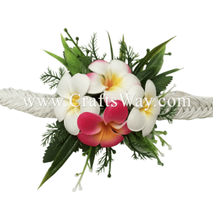 PM-301-E Wedding & Special Event, Wrist Corsage - Plumeria (Mix Colors)