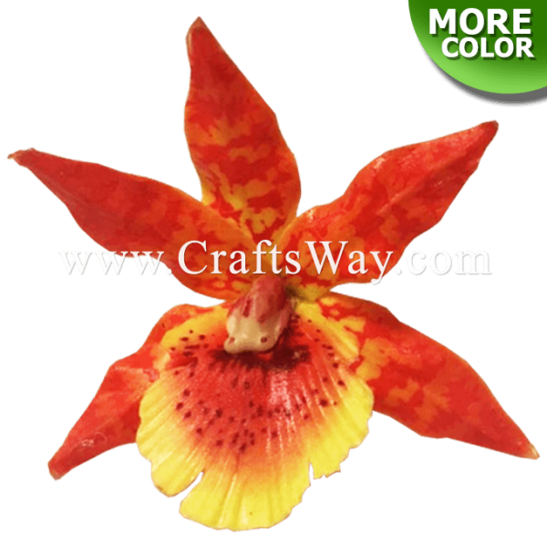 LX-313 Artificial Latex Orchid Flower (Type O), 3 inches, Latex Hair Flower