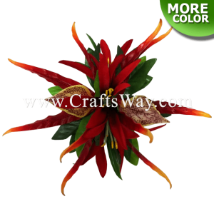 CMM-102 Silk Spider Lily & Latex Orchid Hair Clip, Hairpiece Made in Hawaii, Hair Accessories for Hawaiian Wedding Items, Hula Dancer