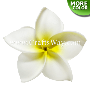 FSH187 Artificial Foam Flowers, Plumeria Type KO, 4½ inches