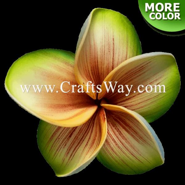 FSH188 Artificial Foam Flowers, Plumeria Type KU, 4½ inches, Made in Hawaii