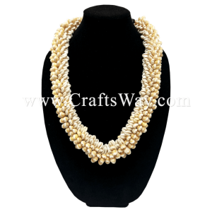 SL11 Cowrie Shell Lei, Hawaiian Cowrie Shell Necklace, Seashell necklaces for Beach Wedding, performances, party, and celebrations
