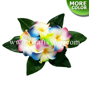 CMS-068 Foam Plumeria (A) Hair Clip, Custom Made Flower Hairpiece, Hawaiian Hair Clip