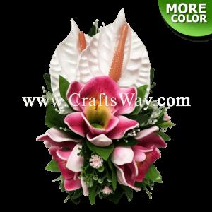 CML-002 Foam Cymbidium (D) & Foam Anthurium Hair Clip, Custom Made Flower Hairpiece