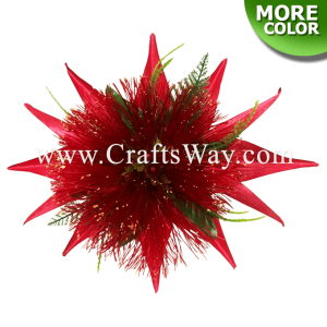 CML-046 Custom Made Flower Hairpiece, Nylon Lehua & Silk Bird of Paradise Hair Clip, Hairpiece Made in Hawaii, Hair Accessories for Hawaiian Wedding Items, Hula Dancer