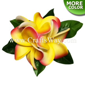 CMS-070 Custom Made Flower Hairpiece, Foam plumeria (type BA) Hair Clip, Approximately 1½ inches, Hairpiece Made in Hawaii, Hair Accessories for Hawaiian Wedding Items, Hula Dancer