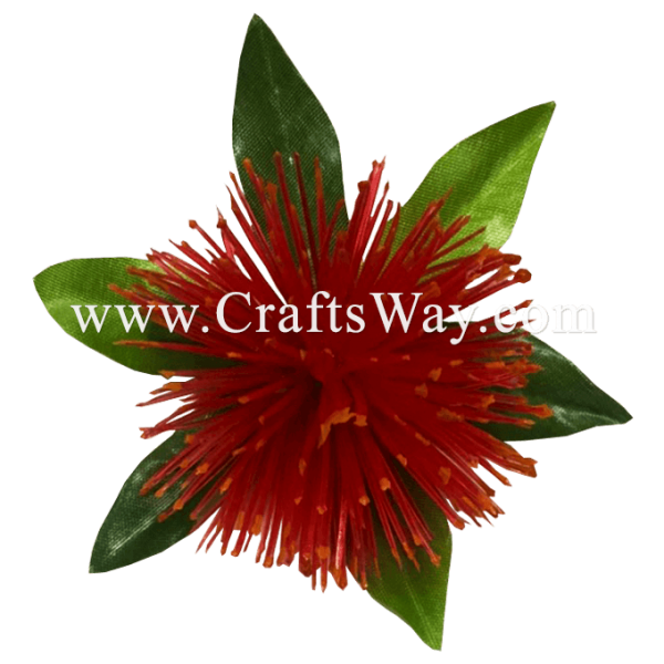 CMS-072 Custom Made Flower Hairpiece, Nylon Mini Lehua Hair Clip, Hairpiece Made in Hawaii, Hair Accessories for Hawaiian Wedding Items, Hula Dancer