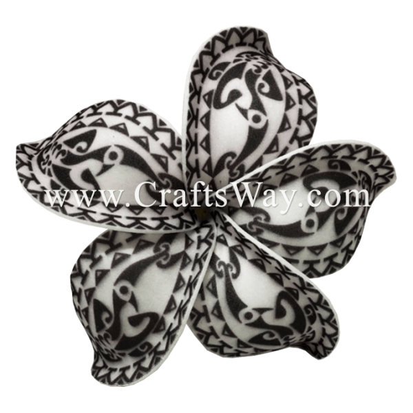 FSH189 Artificial Foam Flowers, Plumeria Type NA (Tribal), size 4 inches