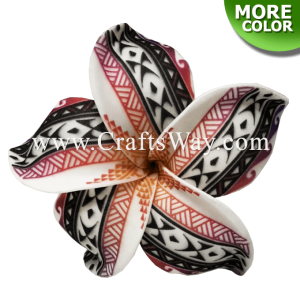 FSH190 Artificial Foam Flowers, Plumeria Type NE (Tribal), size 4 inches