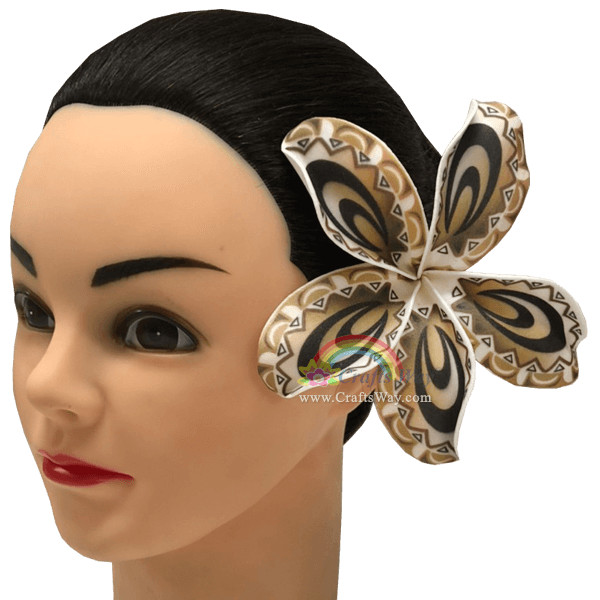FSH191 Artificial Foam Flowers, Plumeria Type NI (Tribal), size 5 inches