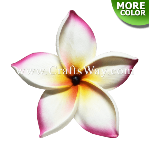 FSH168-Pearl Artificial Foam Flowers, Plumeria Type FO with Pearl, size 4 inches